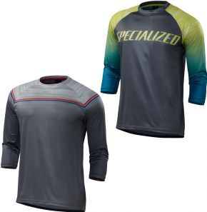 Specialized Enduro Comp 3/4 Jersey 2018 - Fabric that's light airy breathable and incredible at wicking sweat away from the body