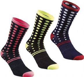 Specialized Dots Summer Sock 2018 - Snug fitting sock with Thermocool yarn which eliminates moisture.
