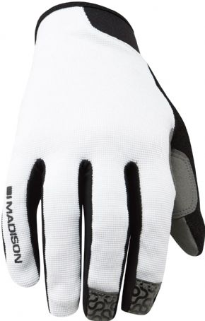 Madison Roam Full Finger Gloves White - Whether it's used as a lightweight barrier jacket or packed away in your jersey pocket