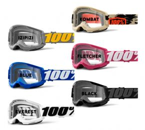 100% Strata 2 Clear Lens Goggles  2021 -