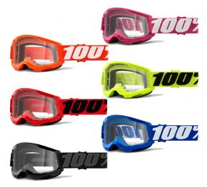 100% Strata 2 Clear Lens Youth Goggles  2021 -