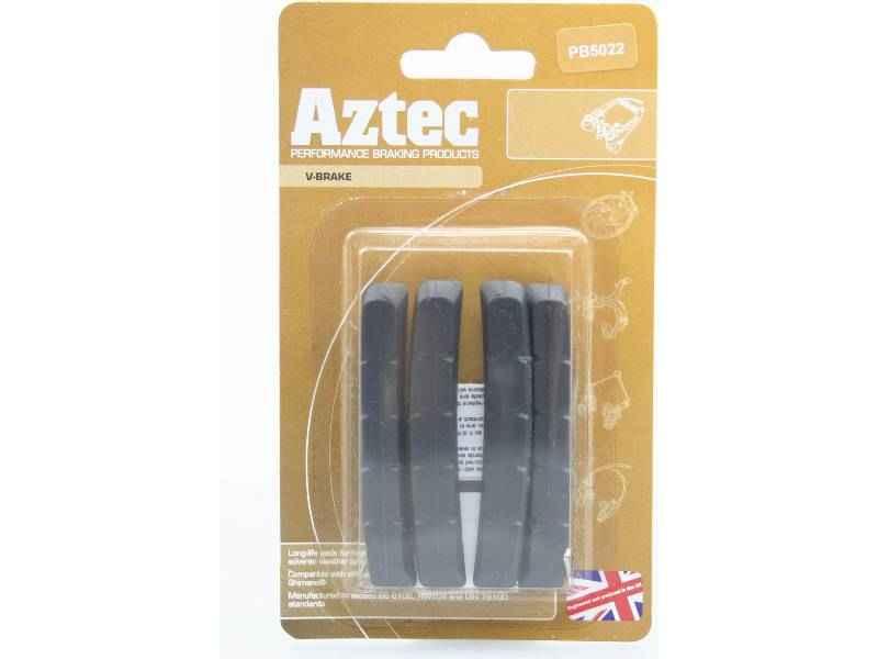 Aztec V-type insert brake blocks standard charcoal 2 pairs | Brake pads