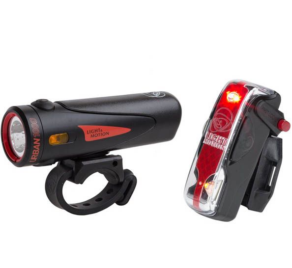 Light And Motion Urban 1000 Black / Black + Vis 180 Pro Light Twinpack   City-cykler