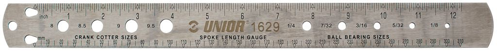 Unior Spoke Bearing And Crank Cotter Gauge 357.5x30.8 1629 | Eger