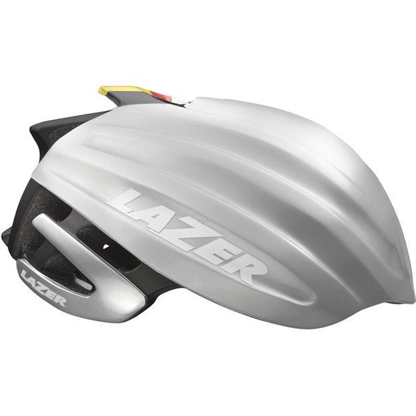 Lazer Z1 - Cykelhjelm Road +Led og Aeroshell - Str. 58-61 cm - Flashgul | cykelhjelm