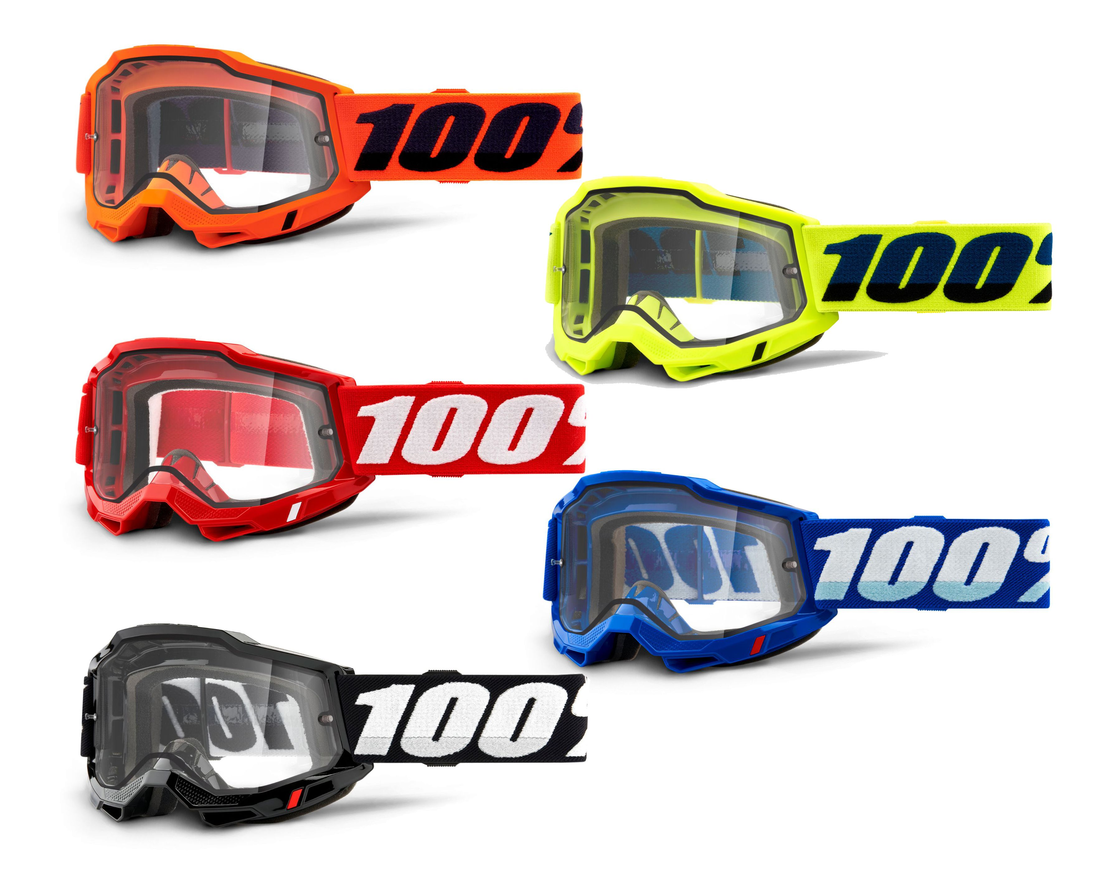 100% Accuri 2 Clear Lens Enduro Mx Goggles 2021